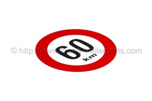 60 km/h Sign for Belgium