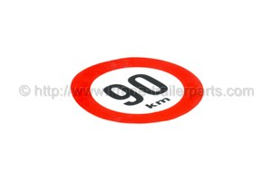 90 km/h Sign; red edge