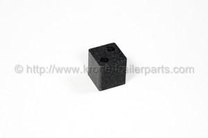 Stanchion socket cover, plastic
