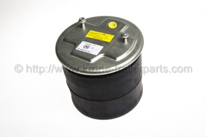 Air bellow piston with rubber